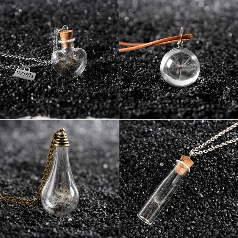 Dandelion bulb Vial Necklaces