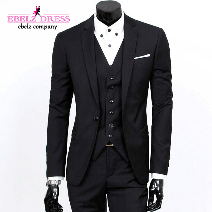 2015 High Quality Black Modern Wedding Suits For Groom Terno ...