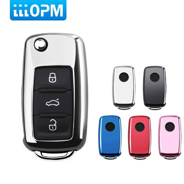 Ключ автомобиль для VW Passat Golf Jetta Bora Polo Sagitar Tiguan авто ключ сумка протектор крышки с брелок ТПУ авто аксессуары