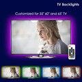 ТВ СВЕТОДИОДНЫЙ подсветка, UNIBROTHE USB светодиодные полосы света комплект на заказ для ТВ 55 60 65 дюймов монитор светильник RGB световая полоса 12.6ft