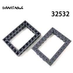 Smartable Technic Beams MOC 6x8 Arm Ring / Ring Beam Building Block Toys For Children Creative Compatible 32532 10pcs/lot