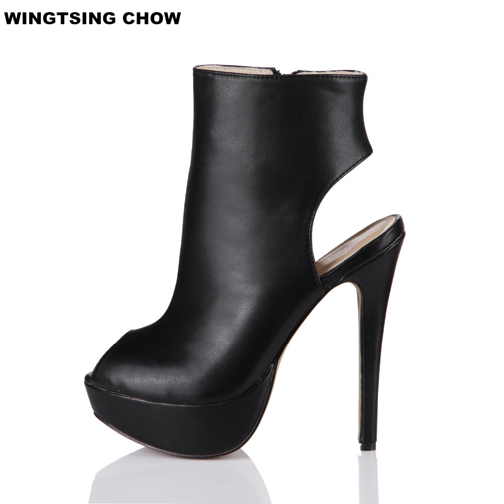 Brand New Open Toe Ankle Boots Ladies Shoes Sexy Slingbacks High Heels Platform Shoes Women Boots Spring Autumn Free Shipping brand new open toe ankle boots ladies shoes sexy slingbacks high heels platform shoes women boots spring autumn free shipping page 10