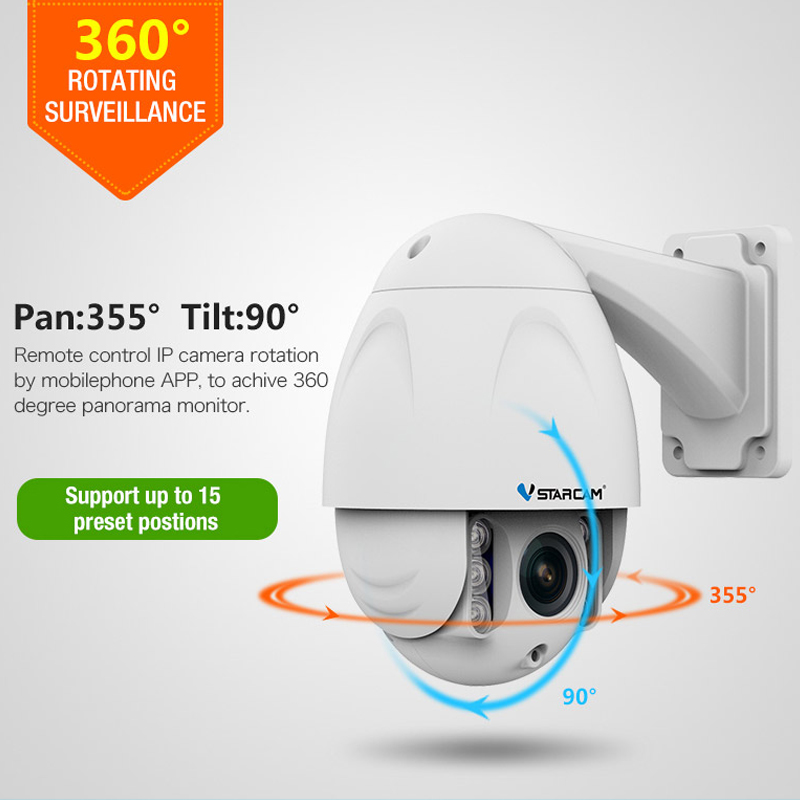 Vstarcam ip CCTV video surveillance Security Camera wifi wireless PTZ IR Dome Outdoor HD cam 1080P 2.0MP 4X Zoom 2.8-12mm H.264 cctv cam ip camera 1080p hd outdoor waterproof pt onvif surveillance inspection dome security camera ir led