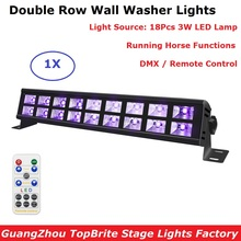 купить 18LEDS Disco UV Black Lights DJ 30W LED Wall Washer Lights For Party Christmas Bar Lamp Laser Stage Wall Washer Stage Lights дешево