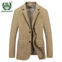 2017 Spring Men S Fashion Casual Brand Blazer Coat Autumn Man 100 Pure Cotton Blue Blazers