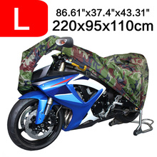 Size L 220 x 95x 110cm Motorcycle Covering Waterproof Scooter Cover UV resistant Heavy Racing Bike
