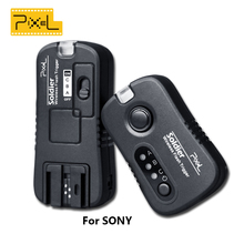 Pixel TF-373 Soldier Wireless Grouping Flash Trigger Flash Remote Shutter For SONY 1 Transmitter + 1 Receivers