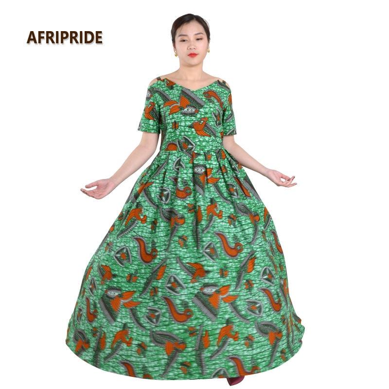 Pakaian Afrika untuk wanita AFRIPRIDE klasik tradisional lengan - Pakaian kebangsaan - Foto 2