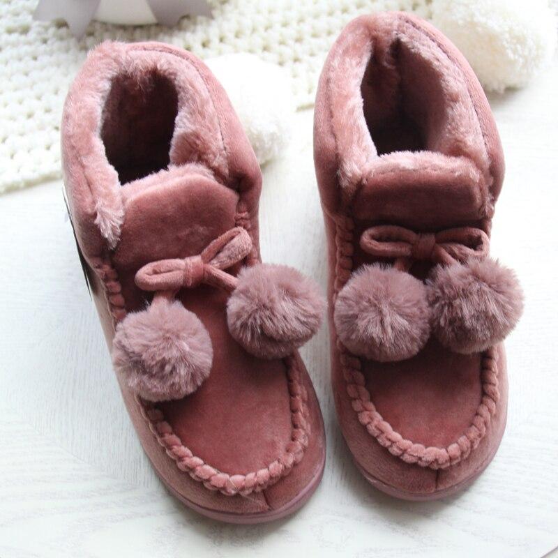 Femmes Plancher Maison Chaussures Doux Haute-Cut Couple Amant Épais En Peluche Anti-Slip Intérieur Bottes Chaussures Plus La Taille