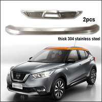 304 Stainless Steel Skid Plate Bumper Guard Bumper Protection Bull Bar For Nissan Kicks Quality Supplier