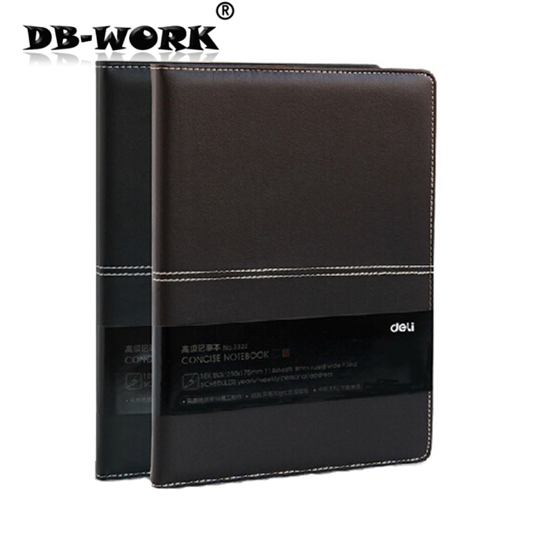 Deli 25 k anteckningsbok läder anteckningsböcker brevpapper 114sheets A5 för att tjocka kontoret anteckningsblock