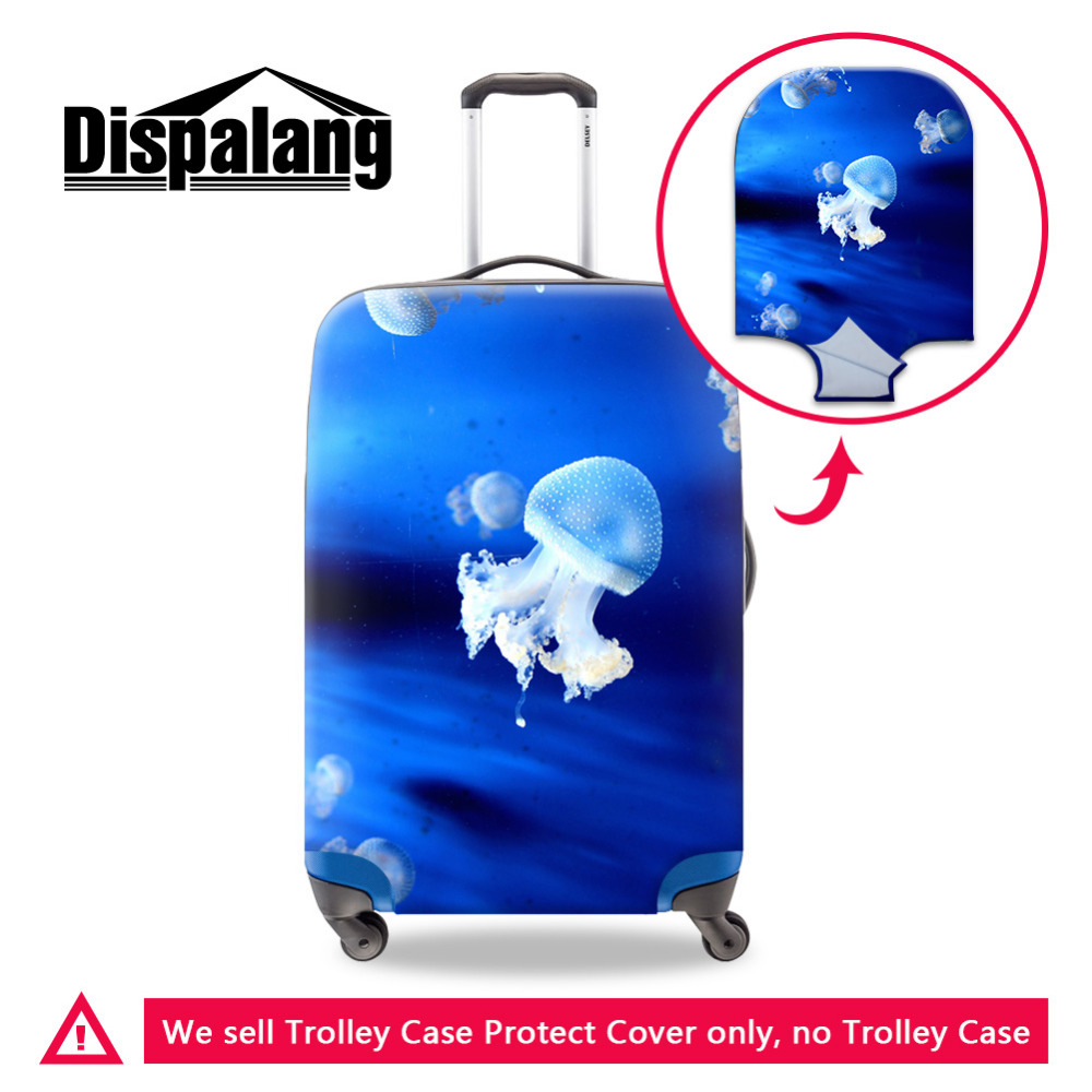 Dispalang Jellyfish Print Travel Luggage Cover For 18-30 Inch Trolley Case Suitcase Dustproof Cover Luggage Protective Covers