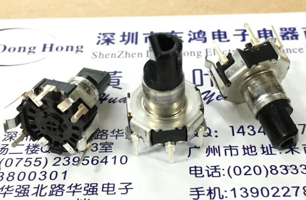2 unids/lote Alps Alpine EC12D1524403 encoder con interruptor 30 posicionamiento 15 pulso longitud eje 17,5
