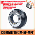 COMMLITE CM-EF-MFT Lens Adapter for Canon EOS EF/EF-S to Micro Four Thirds (MFT) Camera; Supports Electronic Auto Aperture Contr