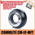 Commlite-ef-mft lente adaptador para canon eos ef/ef-s-para micro quatro terços (MFT) câmera; suporta Auto Eletrônico Abertura Contr