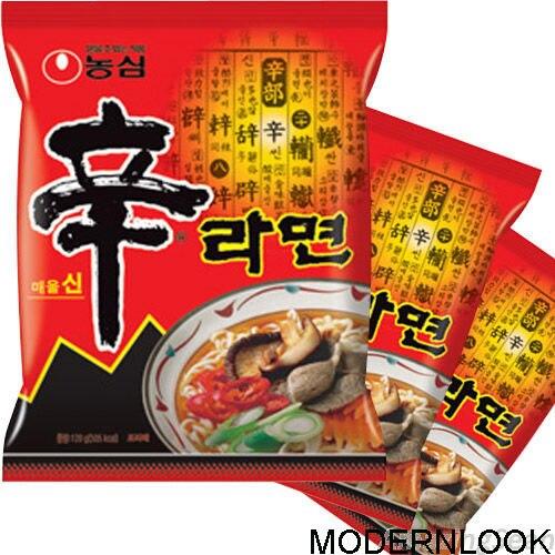 Голени ramyun корейский лапша пряный вкусный
