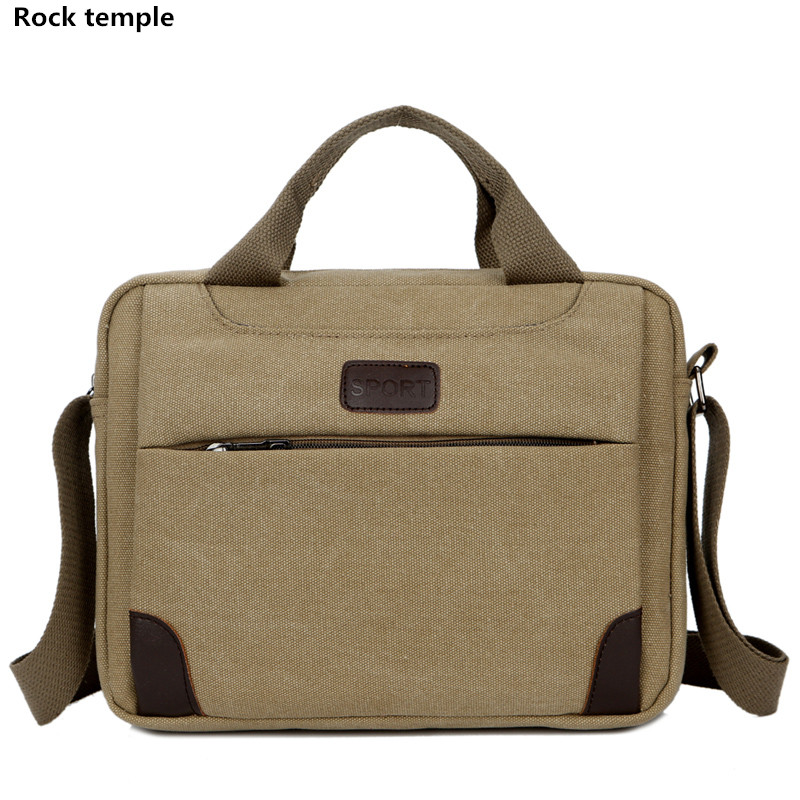 Business Handbag Men Fashion canvas Tote Bag Male Home Document Laptop Shoulder Men Messenger Bags Male Casual Shoulder Bag aosbos fashion portable insulated canvas lunch bag thermal food picnic lunch bags for women kids men cooler lunch box bag tote