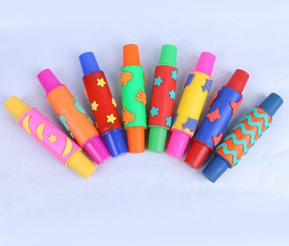Baby Kids Educational Toys Art Tool Drawing Toys Sponge Brush Set Graffiti Roller Seal Tool For Kids Diy Painting