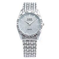 XG78 G D GLE VDO Womens Watches Silver Ladies Bracelet Watch Fashion Casual Quartz Wristwatches Relogio