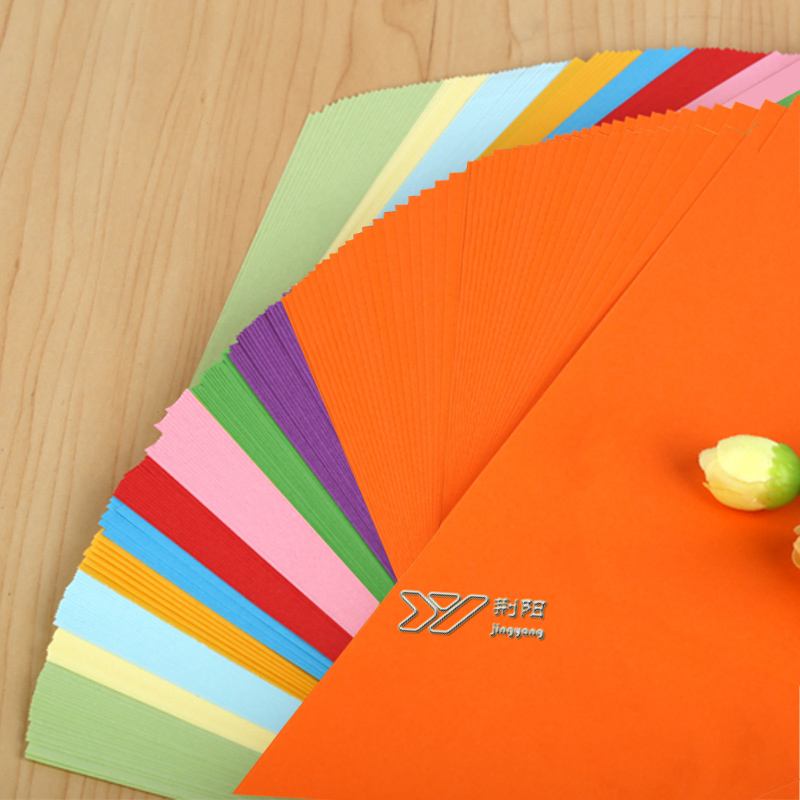 100 pcs/lot color 80g color copy paper A4 color handmade paper origami printing paper