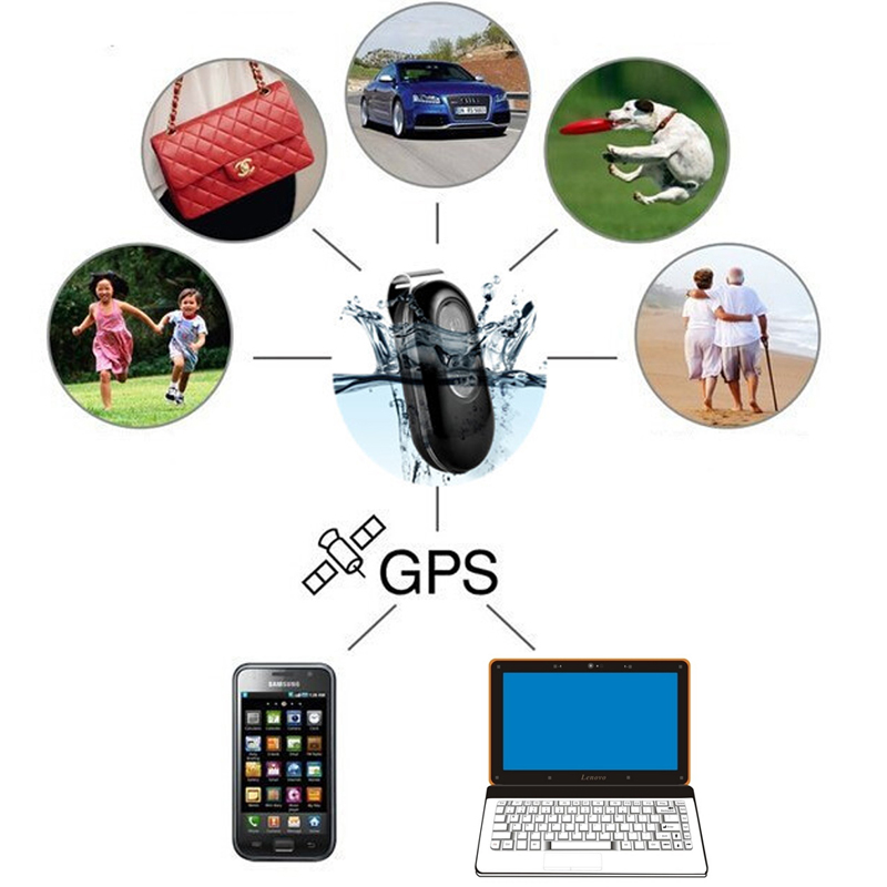 Waterproof GPS Tracker Locator Child Pets Dogs Vehicle GPS GSM/GPRS SOS Alarm Locator Motorcycle Car Google link Tracking