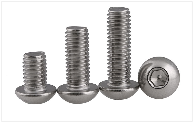 Iso7380 304 stainless steel round head screw M3 M4 screws bolt hex socket 25pcs button head socket cap screw 304 stainless steel round pan head screws m5 8mm