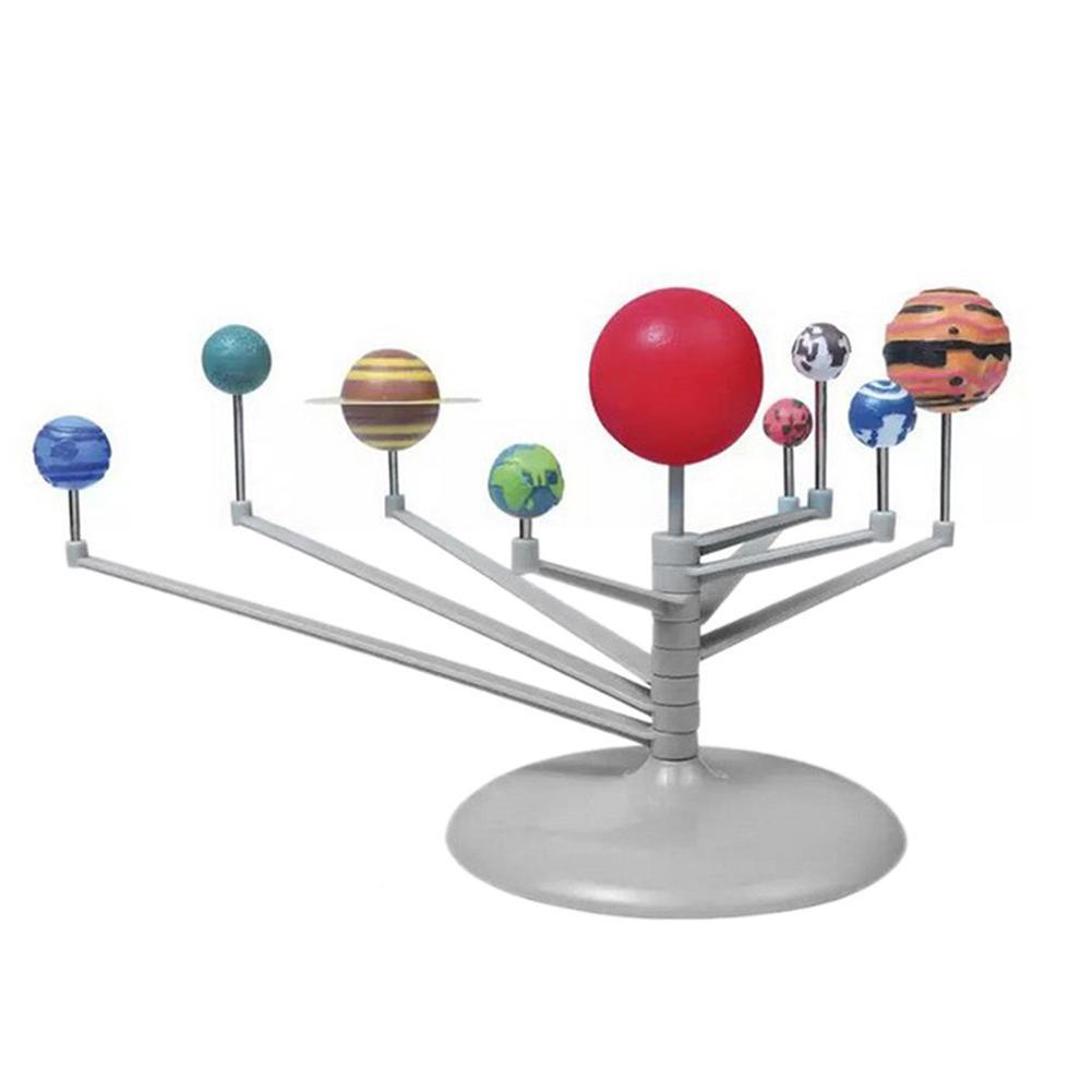 Solar System Planetary instrument Model Nine Planets Kit Astronomy Painting Model Science Planetarium Educational Toys For Kid