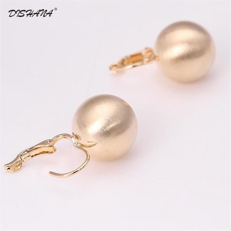 2017 Fashion Jewelry Gold-color Luxury Earrings Shining Ball Shape - Fashion Jewelry - Photo 2