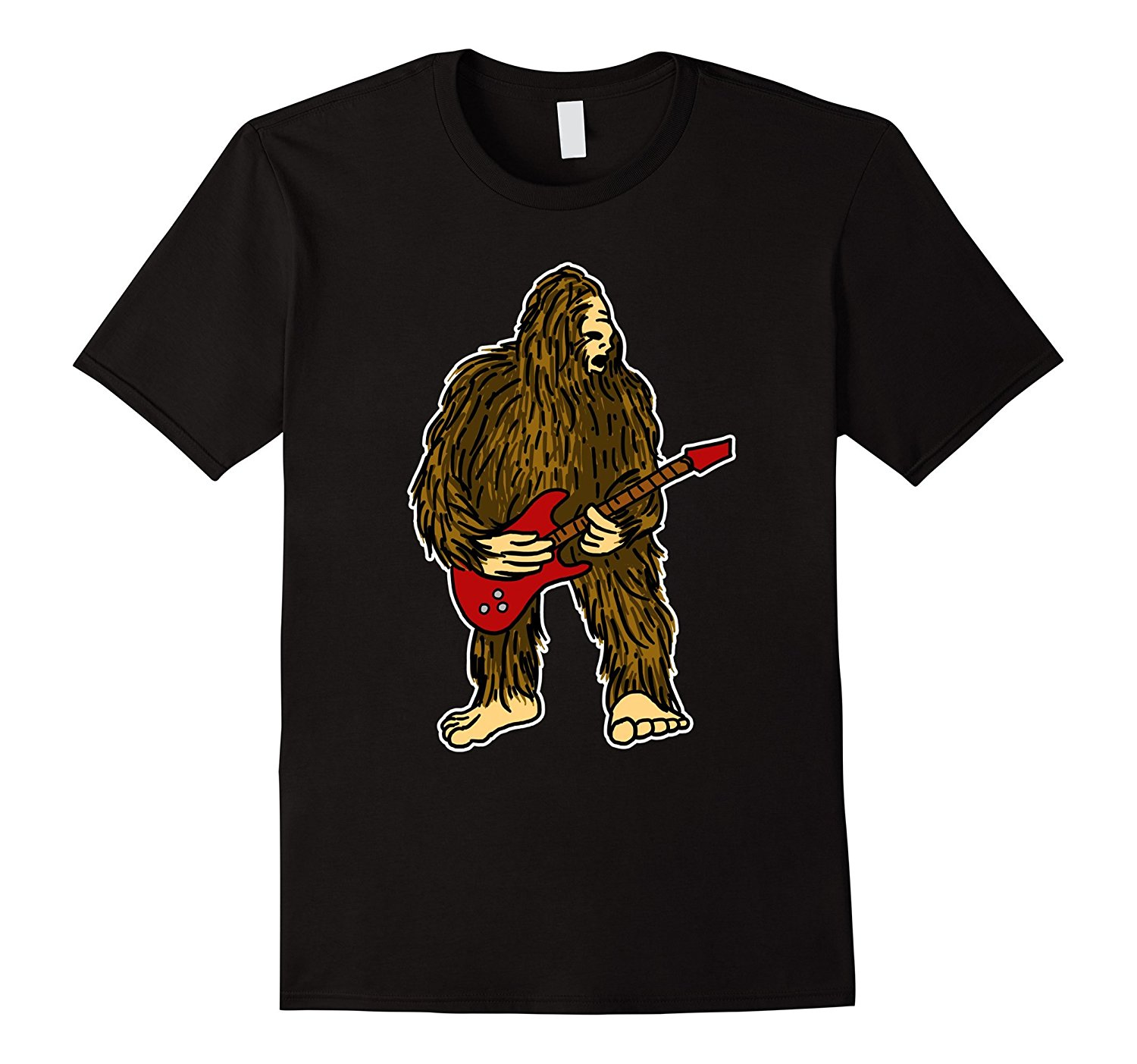 787970a7b Bigfoot Playing Guitar Funny Rock Guitarist Cartoon T Shirt-in T-Shirts  from Men's Clothing & Accessories on Aliexpress.com   Alibaba Group