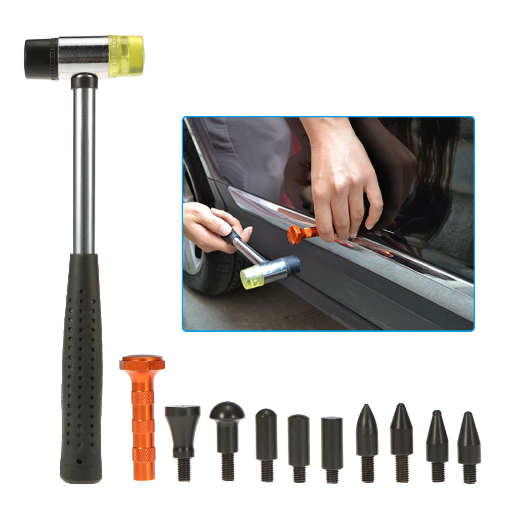Paintless Dent Repair Tool Kit Checking Line Board Dent Lifter Puller Rubber Hammer Tap Down adjustable pdr repair tools set tap down 9heads rubber hammer paintless dent tool multi function rubber hammer