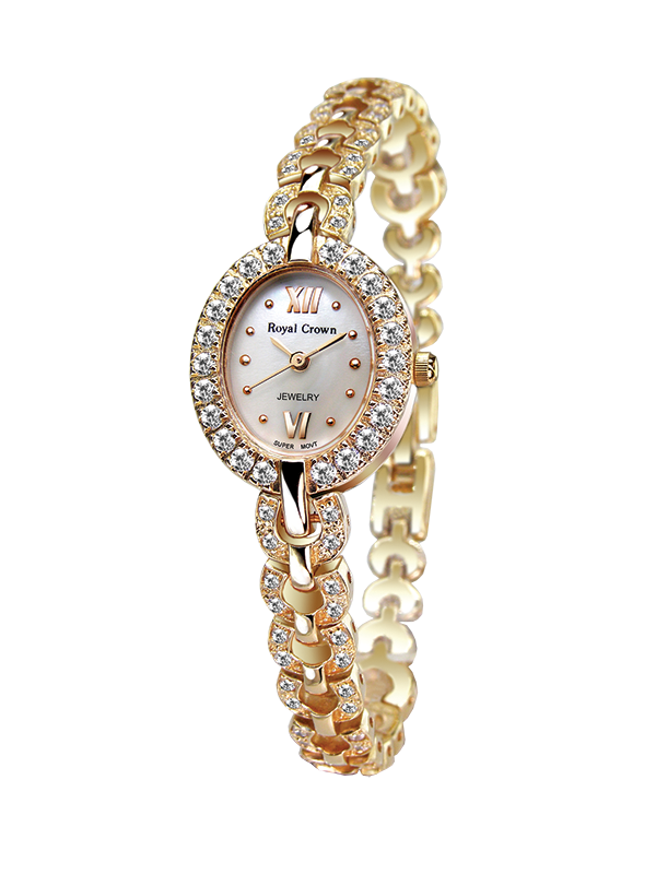 Фото Royal Crown Jewelry Watch 2100B Italy brand Diamond Japan MIYOTA Rose gold Lady Women