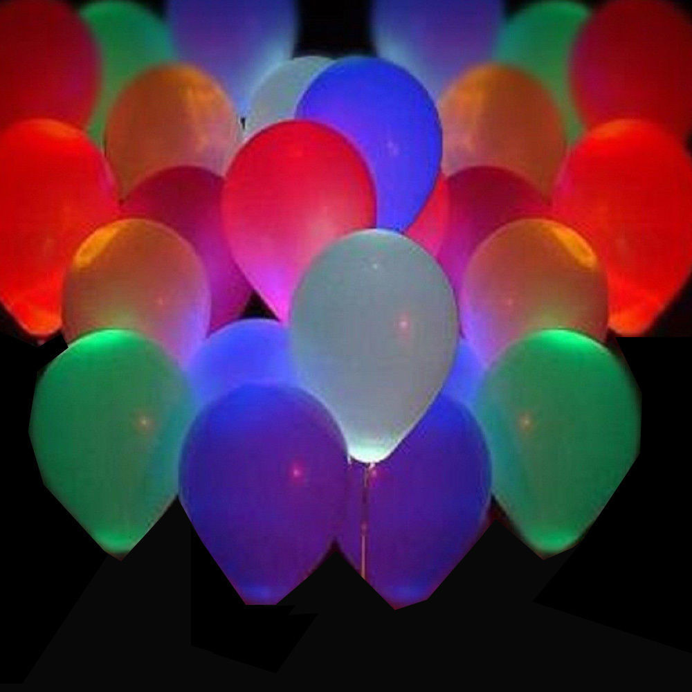 50Pcs Glow In The Dark Sky Lanterns Globos Party Baloons Led Flash Balloons Illu