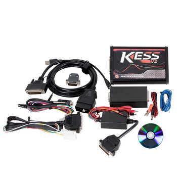KESS V2 V5.017 V2.47 ECM ไทเทเนียม EU PCB สีแดง KTAG V7.020 4 LED รุ่น Master เครื่องมือการเขียนโปรแกรม ECU ไม่มี Token จำกัดรถ/รถบรรทุก/จักรยาน