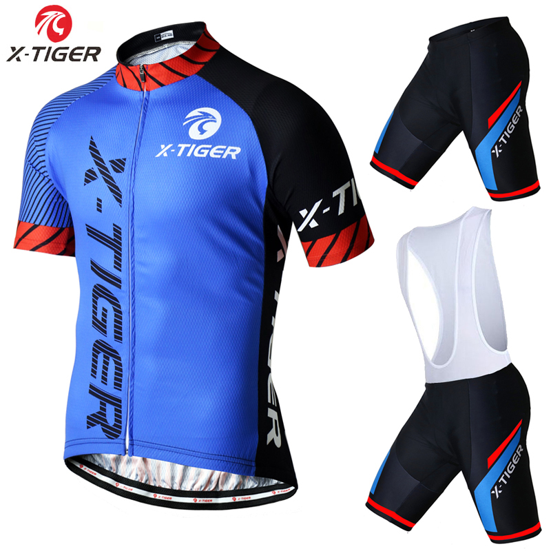 ФОТО X-Tiger Brand Pro Summer Bicycle Jersesy Breathable Cycling Set Short Sleeve Mountain Bike Clothing 2017 Maillot Ropa Ciclismo