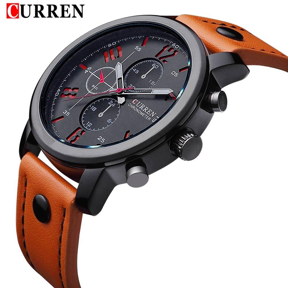 Prix pour Curren top brand design nouvelle mode casual cool sport homme horloge militaire armée d'affaires poignet quartz mâle de luxe cadeau montre 8192
