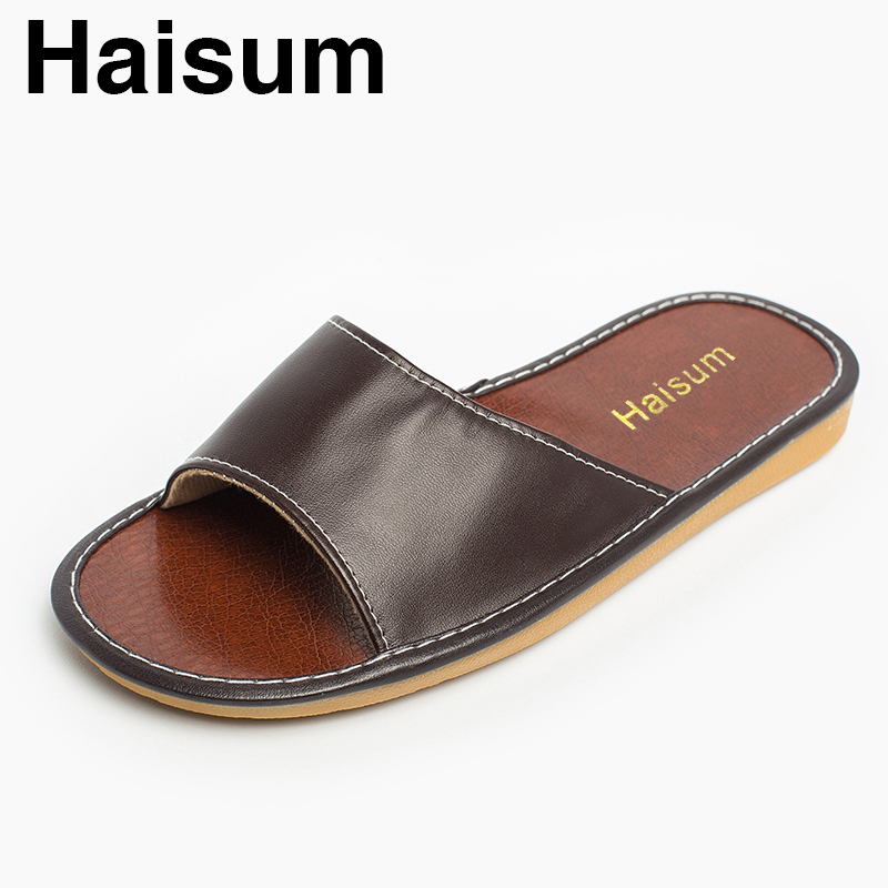 Men's Slippers Spring And Summer Pu Home Indoor Slip Non-slip Slippers 2018 New Hot H-8807
