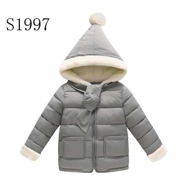 c484047fe7cb Fashion Kids Winter Coat Feather Cotton Baby Girls Clothing Jacket ...