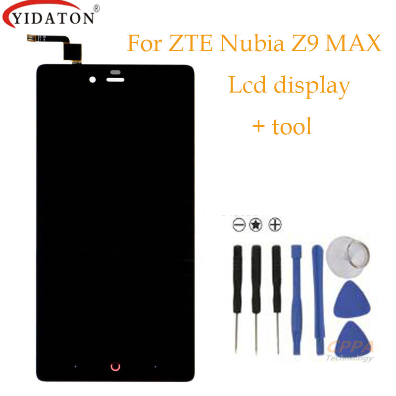 High quality For ZTE Nubia Z9 Max NX510J NX512J LCD Display Touch Panel Screen Glass Assembly