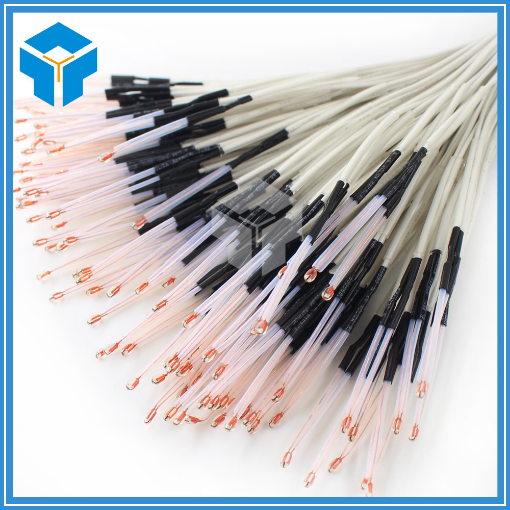 10Pcs/lot 100K ohm NTC 3950 Thermistors with cable for 3D Printer Reprap Mend. leader kids 40 60