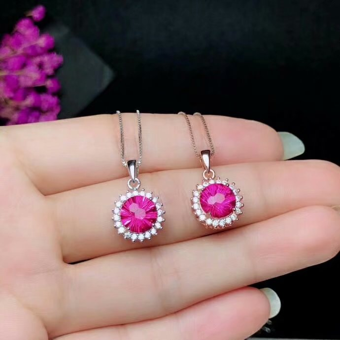 shilovem 925 silver sterling natural topaz pink  woman trendy fine new plant party  gift Jewelry Christmas gift new bz101005agfbshilovem 925 silver sterling natural topaz pink  woman trendy fine new plant party  gift Jewelry Christmas gift new bz101005agfb