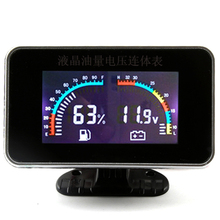 Volt Meters Universal LCD 12v/24v Truck Car Oil Pressure Gauge + Voltmeter Voltage Sensors Thermometer Digital