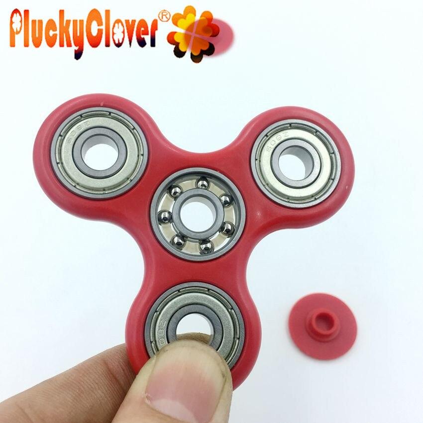 Rainbow Hand Spinner Tri Fidget ADD ADHD Stuffer Focus Finger Desk Toy Gyro USA