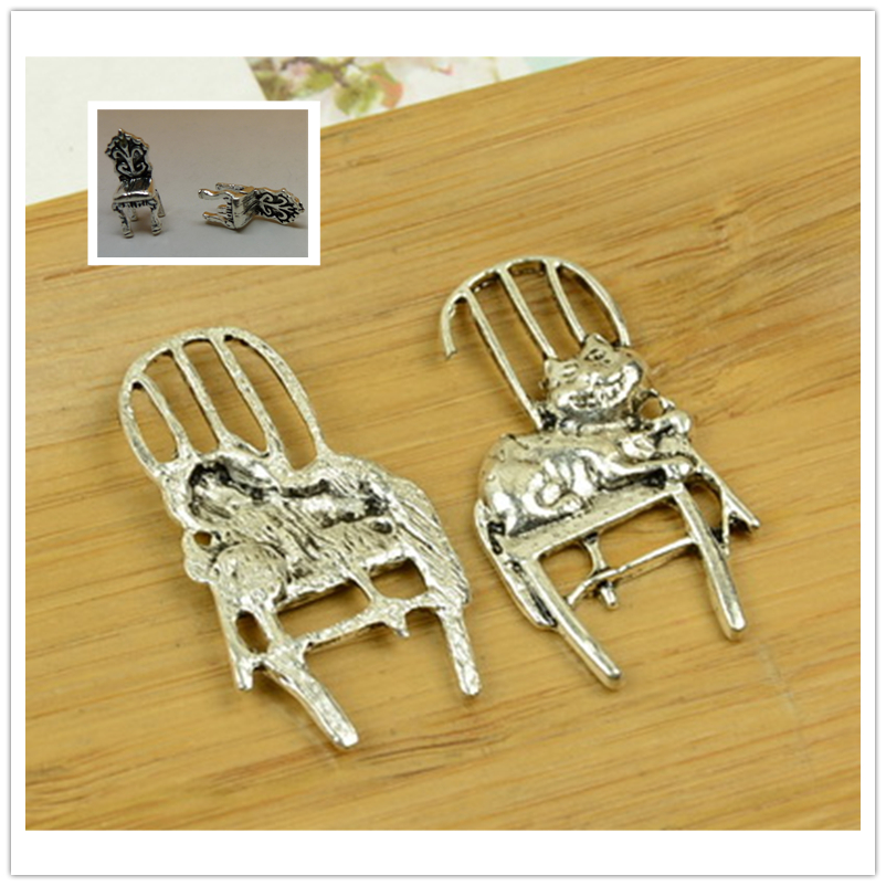 Lovely 5pcs Vintage Charms Table Chair Pendant Fit Bracelets Necklace Diy Metal Jewelry Making A2965 And To Have A Long Life. Pendants