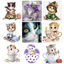full diamond painting,3d embroidery,diamond embroidery cat,diamond painting cat