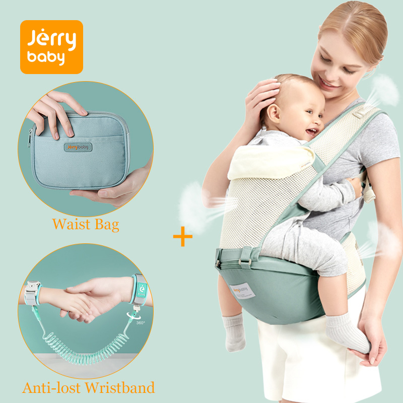 Jerrybaby Breathable Baby Carrier Ergoryukzak Front Facing Baby Carrier Comfortable Sling for Newborns Kangaroo