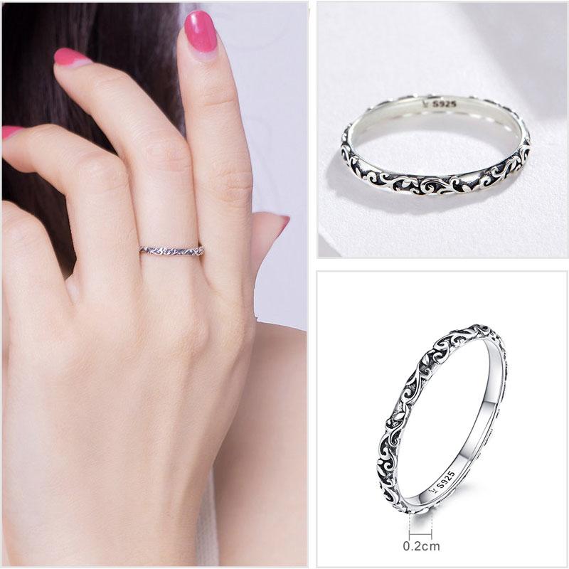 925 Sterling Silber Ringe für Frauen Zirkon 925 Silber Einfache - Modeschmuck - Foto 6