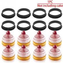 80mm Mousse Mold Round Shape Silicone Cake Ring French Dessert Perforated Circle DIY Bakeware Decor Tool 1PC