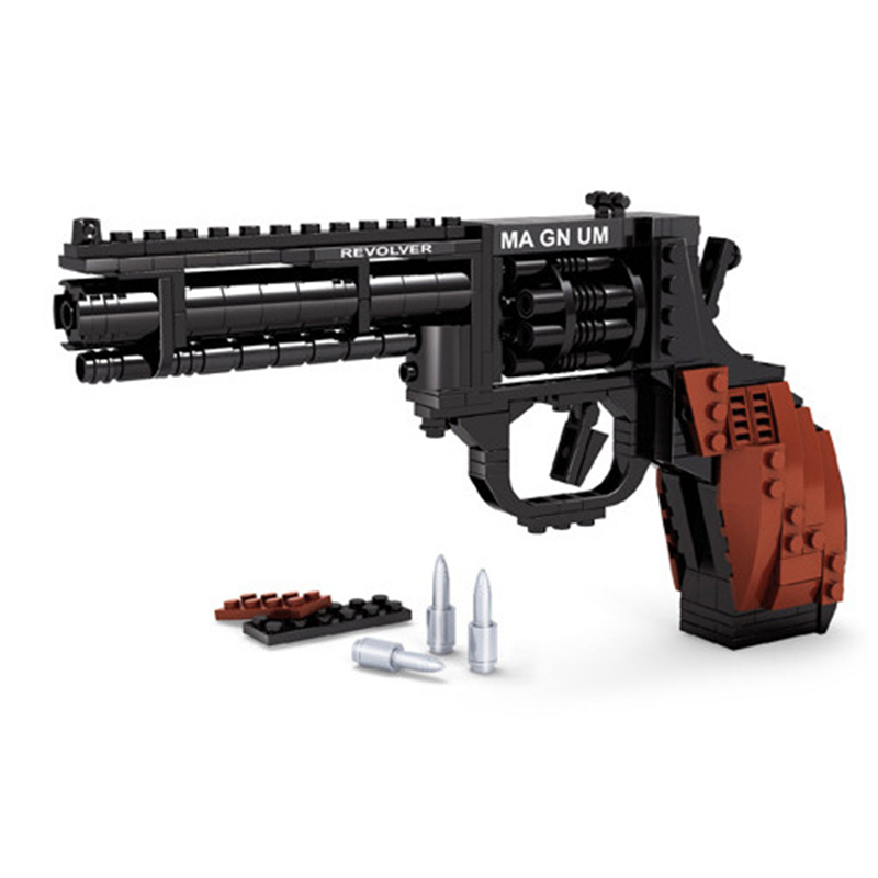 Ausini SWAT Magnum Revolver Pistol Power GUN Weapon Arms Model Assembled Toy Brick Building Blocks Weapon Toys For Children enlighten fight inserted assembled building blocks 407 set brick black weapon compatible air gun block model pistol toy for boys