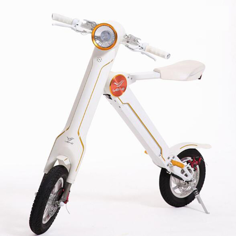 Mini Style Electric Bike  240w 12inch  Cycle 36V 8.8AH  Lithium Battery Electric Bicycle Front and Back Disc Brake Ebike