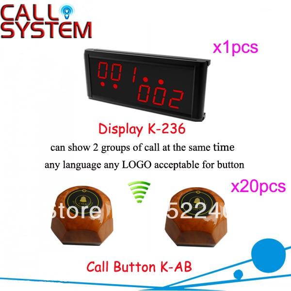 Дом престарелых Зуммер Система Вызова для быстрого обслуживания с персонализированной канн кнопки и СВЕТОДИОДНЫЙ дисплей Горячая продажа Доставка Бесплатно